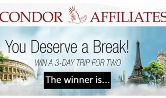 Condor-Affiliates(Sponsor Program) has announced the winner of their randomly selected winning affiliate