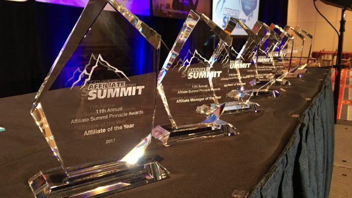 Winners of the Affiliate Summit West 2018 Pinnacle Awards