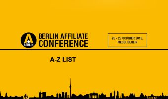 A-Z list of all the companies who are currently registered for the Berlin Affiliate Conference
