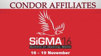 Condor Affiliates are heading to SIGMA 2016