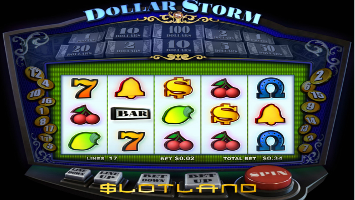 Slotland's new Dollar Storm slot