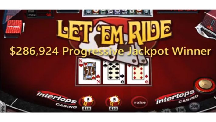 Intertops Casino Let 'Em Ride Player Turns $286K Jackpot Win into Over $900K