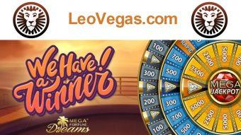 Mega win of over €5.5 million on mobile at LeoVegas.com!