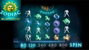 Slotland's New Zodiac Slot has 4 Astronomical Bonus Features