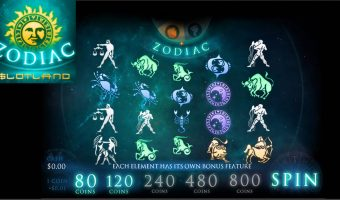 Slotland's New Zodiac Slot has 4 Astronomical Bonus Features