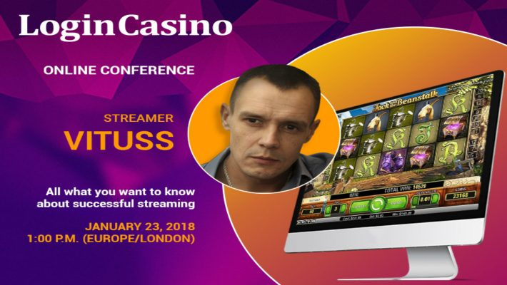 Streamer Vituss will take part in the Login Casino online conference