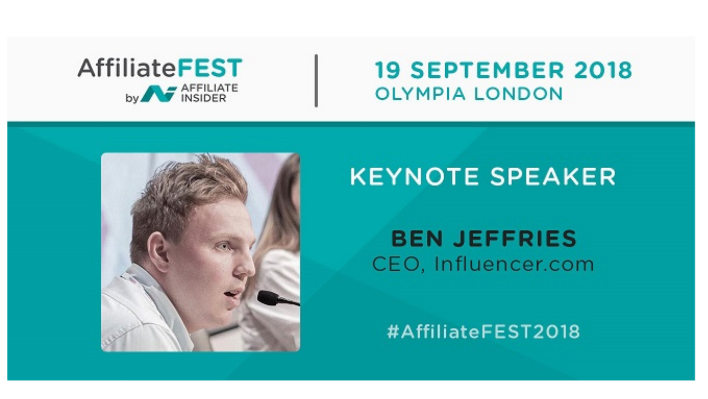 AffiliateFEST 2018 - Key Note Speaker Announced