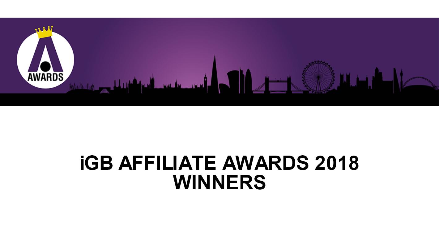 IGB AFFILIATE AWARDS 2018 WINNERS