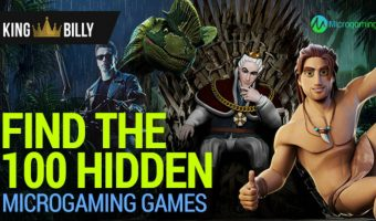 KING BILLY CASINO CHALLENGES PLAYERS TO FIND 100 HIDDEN MICROGAMING GAMES!