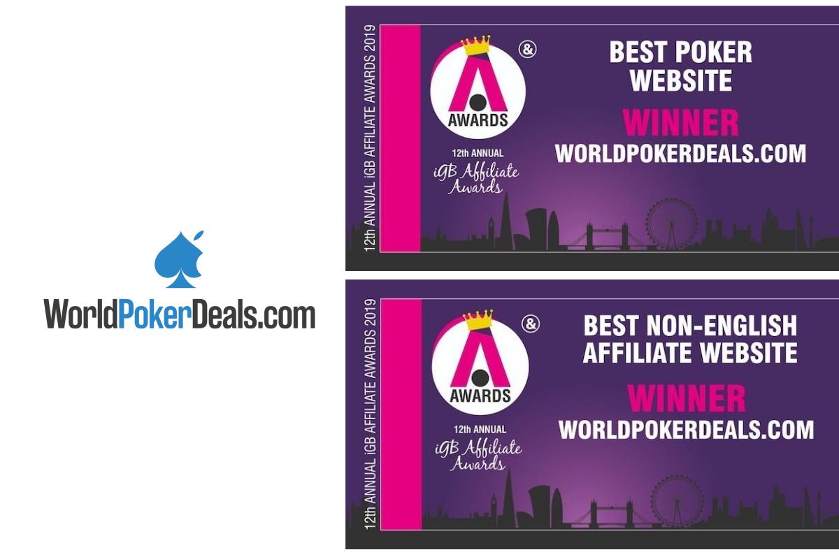 Great night forWorldpokerdealsat theiGBAffiliate Awards 2019